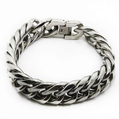 Find More Chain & Link Bracelets Information about High Quality Heavy Metal Puck Cool Cubic Men Silver Plated Stainless Steel Bangle Christmas Boyfriend Gift Chain Link Wristband,High Quality gift tshirt,China wristband manufacturers Suppliers, Cheap wristbands id from JINHUI on Aliexpress.com