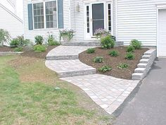 Walkway with Steps (tumbled pavers)