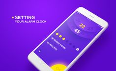 Alarm clock app on Behance