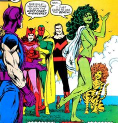 West Coast Avengers and She-Hulk by John Byrne