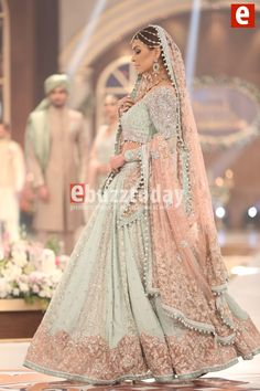 56 Trendy ideas for wedding indian dress color combinations pakistani bridal - Pakistani dresses Indian Bridal Outfits, Pakistani Wedding Dresses, Indian Dresses, Indian Bridal Wear, Lehenga Wedding Bridal, Pakistani Bridal Lehenga, Walima Dress, Indian Bridal Lehenga, Dresses Dresses