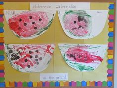 Painting with watermelon rinds