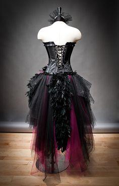 Personalizado tamaño caliente rosa y negro pluma por Glamtastik