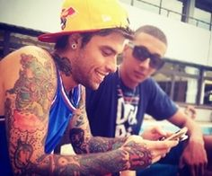 Hot guys with tattoos (;