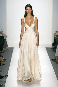 I like the flow of the dress.. tight at the waist then flowy... except add about 3 inches to the boob area... nobody wants to see that much boob... ever.