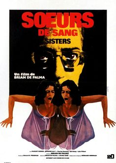 Sisters 1972 French Language Film Posters Horror Movies