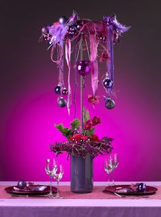 Table Decoration made by Boerma Instituut for magazine Special Bloemschikken…