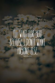 I'll Wait For You!