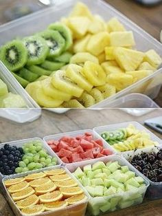 It's proven that if you cut up fruit/veggies ahead of time and put it in your fridge for easier grabbage, you're way more likely to eat healthier! by EllieCarson