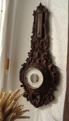 Prunk Barometer Historismus Louis XVI Putten Relief Gründerzeit 1870 Bois Durci