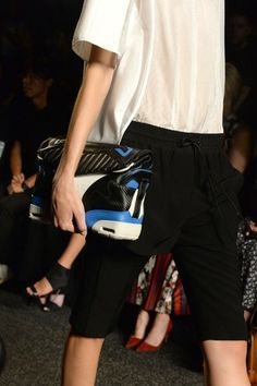 """Alexander Wang's new motorcycle gear inspired bag has all the makings for a """"hit"""" bag. [Photo by Steve Eichner]"""