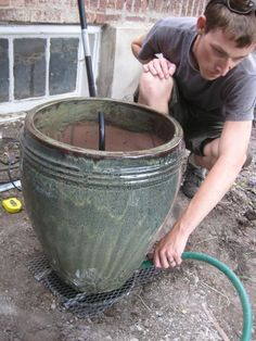 DIY backyard fountain- complete with tutorial! « Hip House Girl