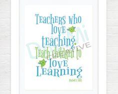 Leraar waardering Print ultimo jaar leraren Gift