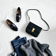 missrogetToday's #outfit  missroget{ #outfitoftheday #flatlay #casual #celinebag #instafashion #jessicabuurman #knit #asos #asseenonme #minimal #fashionblogger #fblogger #marieroget } SOAN | #All Bags # Clutch Bags # Shoulder Bags # STREET FASHION #BLACK AND WHITE #jessicabuurman @jessicabuurman @Instagram