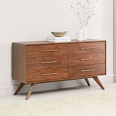 Buy west elm Wright 6 Drawer Chest, FSC Certified (Eucalyptus), Brown from our Chests of Drawers range at John Lewis & Partners. Decor, Dresser Drawers, Home Decor Bedroom, 6 Drawer Chest, 6 Drawer Dresser, Home Decor, Oversized Furniture, Chest Of Drawers, Furniture