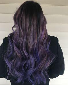 114 gorgeous lavender hair color ideas that are – page 2 Lavender Hair Colors, Lilac Hair, Hair Color Purple, Hair Dye Colors, Hair Color For Black Hair, Cool Hair Color, Color Black, Dyed Black Hair, Pastel Purple