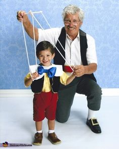 Pinocchio and Geppetto Costume - Halloween Costume Contest via @costumeworks