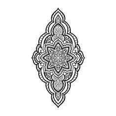 Simple Mandala Tattoo, Geometric Mandala Tattoo, Geometry Tattoo, Mandala Tattoo Design, Mandala Tattoo Neck, Mandala Tattoo Meaning, Knee Tattoo, Inkbox Tattoo, Tattoo Signs
