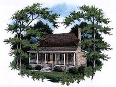 1735 sq ft - add tower Country House Plan 93467 Elevation