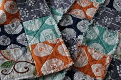 Cotton Rag Quilt for Baby Girl or Boy  Ready to by TillyWhistle, $75.00