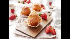 Bezlepkové jahodové muffiny Strawberry Muffin Recipes, Strawberry Muffins, Sweet Bakery, Gluten Free, Easy, Glutenfree, Sin Gluten, Strawberry Cupcakes, Grain Free