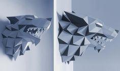 Troféu de Caça 3D estilo dobradura, aprenda a fazer!