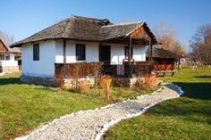 Traditional Romanian house - part of a series with old countryside architecture in Romania Stock Photo