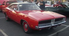 1968 Dodge Charger R/T in Cherry Red