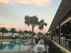 Dancing on the Pool Deck at Lighthouse Grill! #Wedding #CocktailHour #Reception #EventVenue