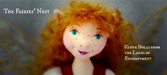 The Fairies Nest -  OOAK Cloth Dolls & Fiber Fantasies
