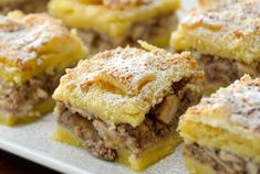 Find out why our LENJA PITA - SERBIAN FRIENDSHIP CAKE is the perfect dessert for whenever you get together with family or close friends! Get ready for a buttery crust and spiced apple filling - Easy to make and, enjoy! Pita Recipes, Bread Recipes, Cooking Recipes, Friendship Cake, 9x13 Baking Pan, Apple Filling, Apple Bread, Croatian Recipes, Spiced Apples