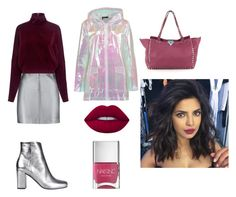 """Без названия #147"" by pog-jul on Polyvore featuring мода, Pierre Balmain, McQ by Alexander McQueen, Yves Saint Laurent, Boohoo, Lime Crime и Nails Inc."