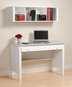 Whether you're routinely working from home or just need a place to set down a book, these  wall mounted desks are smart ways to save space. Ideas, Office, Modern, Floating, Computer, Table