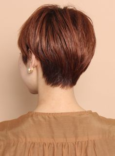 大人のレイヤーマッシュショート(髪型ショートヘア)
