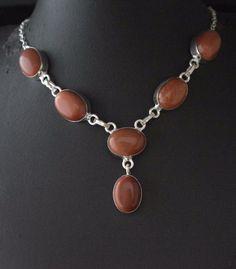 New Designer Collection Sparkling Sunsitara Sterling Silver Plated Necklace E97 #valueforbucks #Bib
