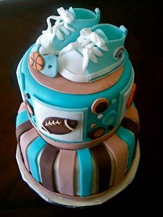 Baby Shower Cakes for Boys Sports Theme