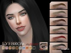 Eyebrows F 201707 by S-Club WM at TSR • Sims 4 Updates