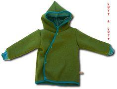 Jacken - Wickeljacke aus Wollwalk Gr. 62-116 - ein Designerstück von luettunluett bei DaWanda