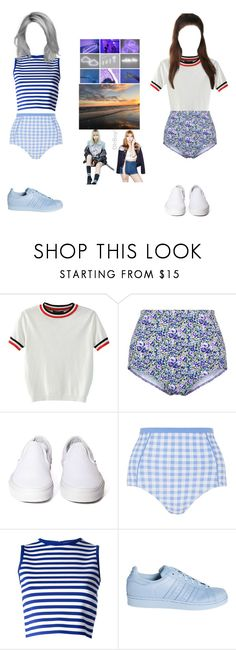 """""""Ain't my fault Alice and Catherine scene"""" by justcatherine ❤ liked on Polyvore featuring WithChic, Vans, MoMo, Emilio Pucci and adidas"""
