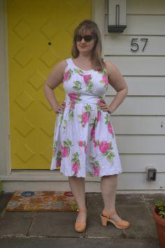 Colette Chantilly Dress peony cotton guaze fabric ErikaMadeIt