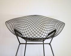 Vintage Mid Century Modern Bertoia Diamond Chair by TheFancyLamb, $450.00