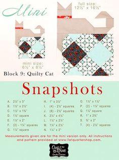 Snapshots Quilt-Along Mini Quilt Block Nine: Quilty Cat