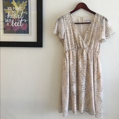 BCBGeneration Babydoll Flutter Dress Flutter sleeves and flowing skirt come together to make this romantic dress perfect for parties and weddings. Worn only once and machine-wash, this BCBG dress is easy to care for and even easier to fall for! BCBGeneration Dresses Mini