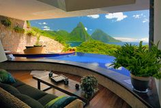 Jade Mountain - I booked a trip for friends here last year. It's on my bucket list.