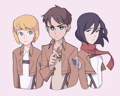Armin, Eren, & Mikasa ~ Shiganshina Trio