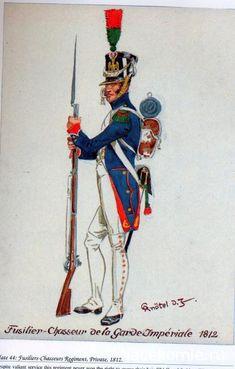 FRANCE - Fuciliere - Chassè De la Garde Impèrial, 1812