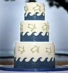Sea Turtle Wedding Cake by mandy