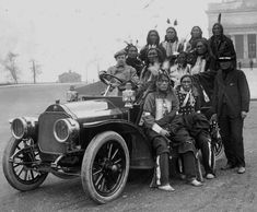 Oglala men from Buffalo Bill's Wild West Show and an English driver - circa 1889
