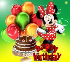 Disney Happy Birthday Clipart Cards