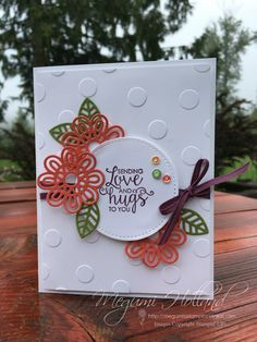 Happy Monday everyone! Here is one of the projects we are making for my Big Shot Class this month featuring the Ribbon of Courage Bundle ...